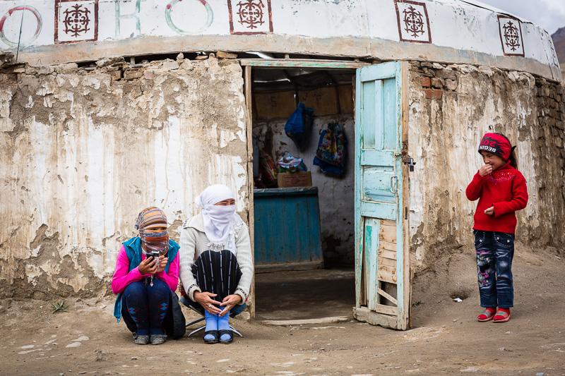 Three Kyrgyz girls - Tajikistan