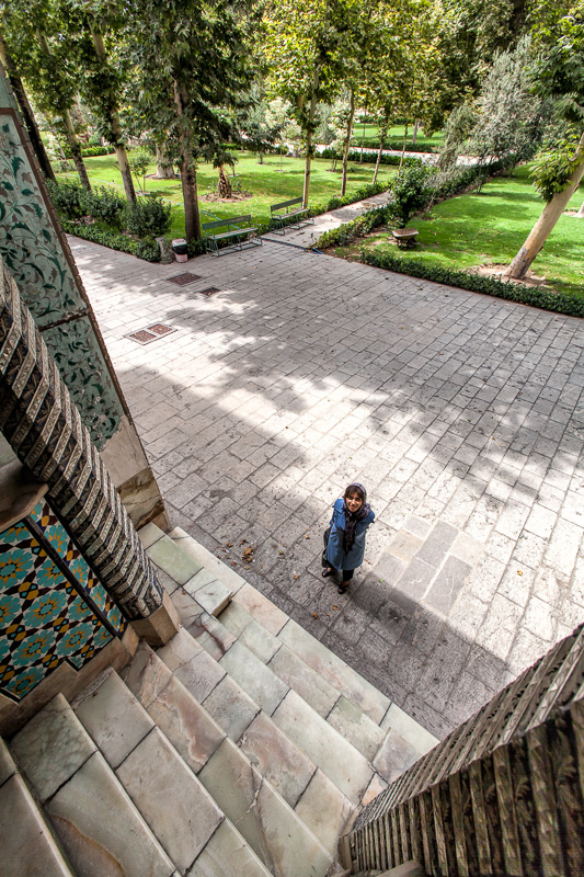 Woman in grounds of Golestan Palace - Tehran