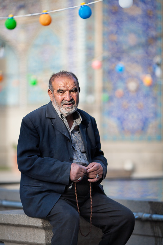 Man in mosque - Hamedan