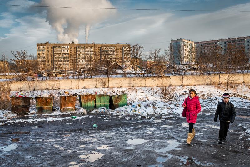 Children walking - Bishkek