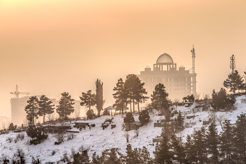 Cemetery and buildings - Dushanbe