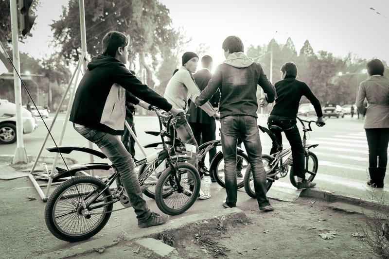 Men on bikes - Dushanbe