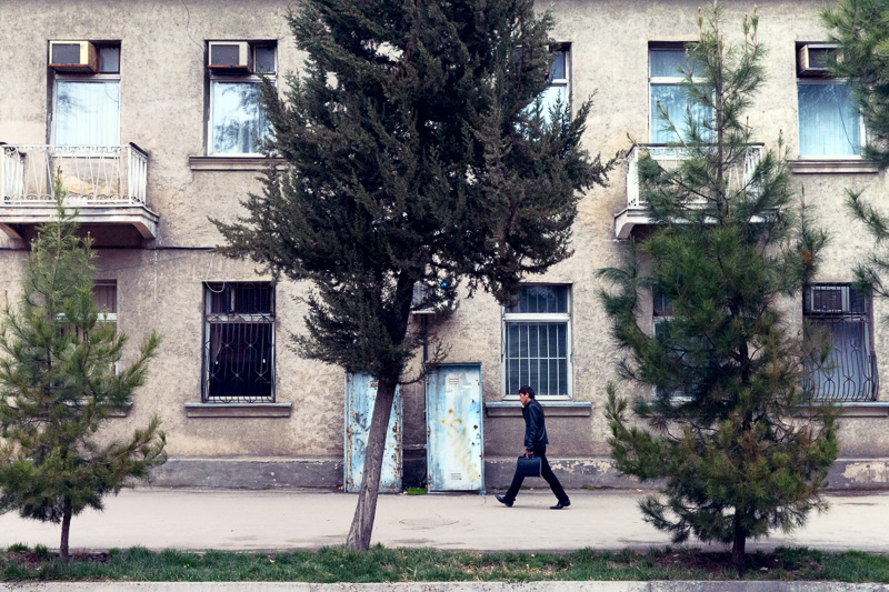 Man walking - Dushanbe
