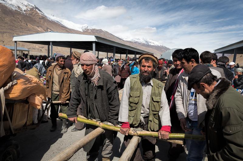 Workers in the Afghan Bazaar