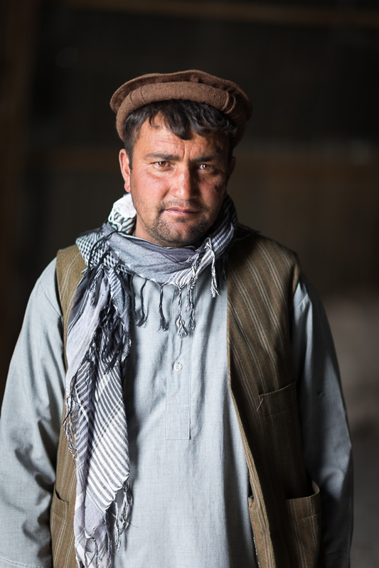 Worker in the Afghan Bazaar