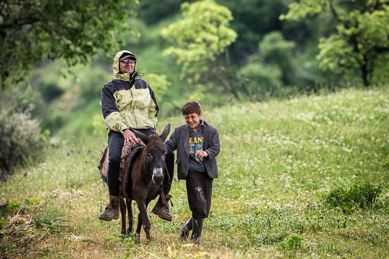 Donkey, man, boy - Varzob