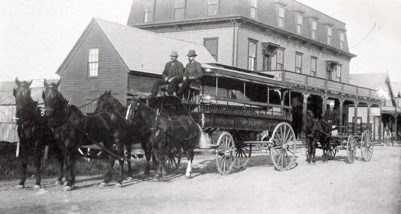 Ocean House with Horse and Carriage