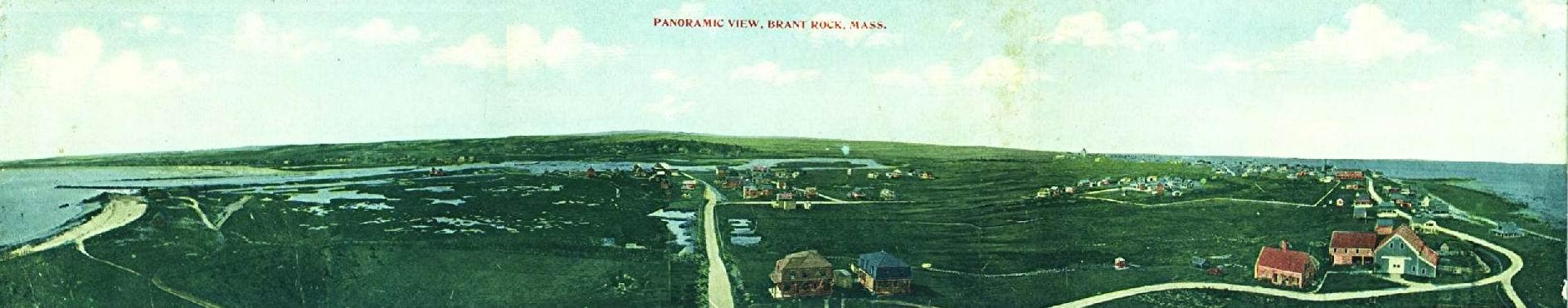 Brant Rock Panorama - A rare triple-fold postcard - No Date