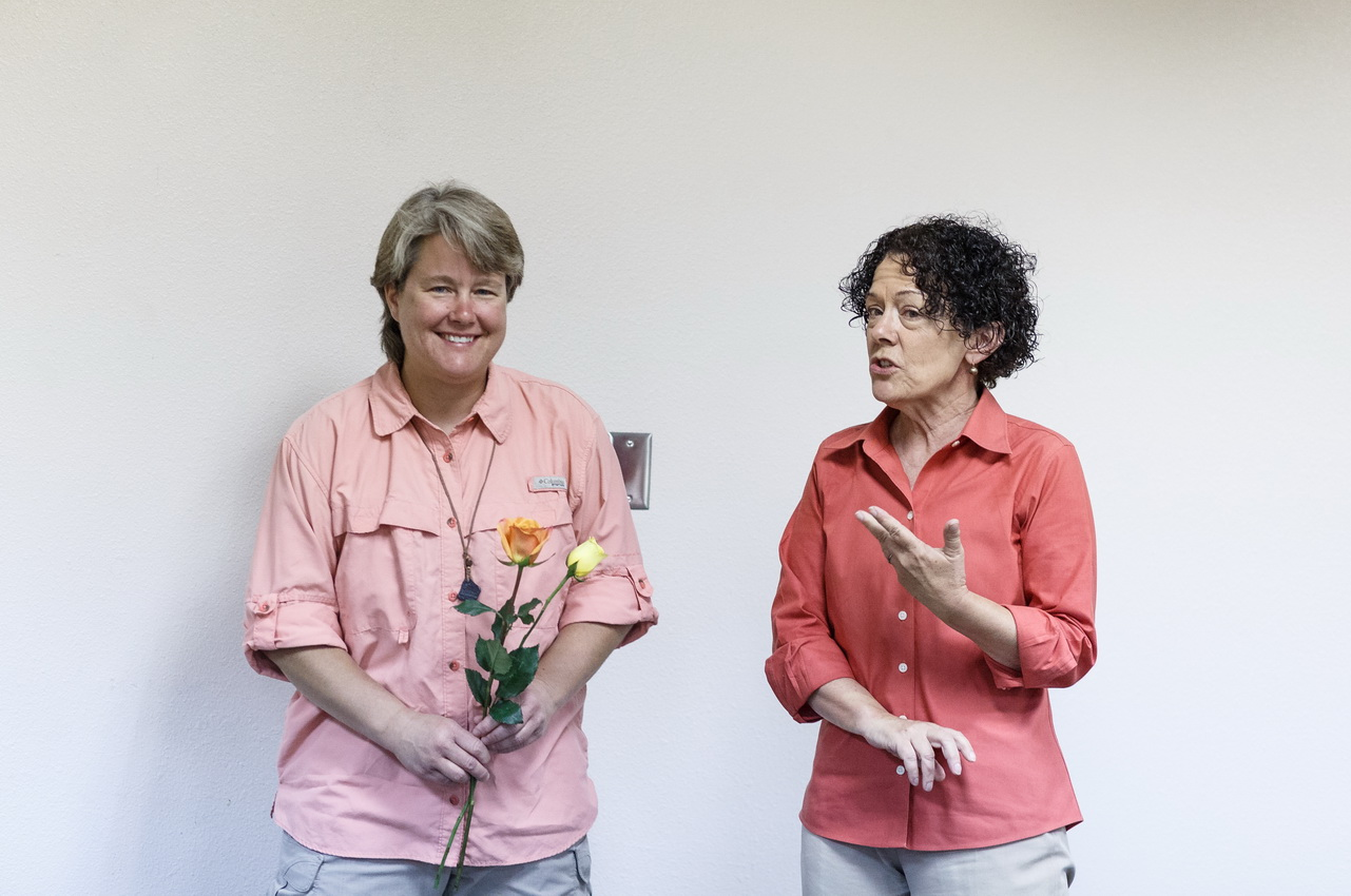 Candace Lewis and Dr. Lois Stanford