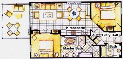 Sample 2 bedroom Unit Floor plan,