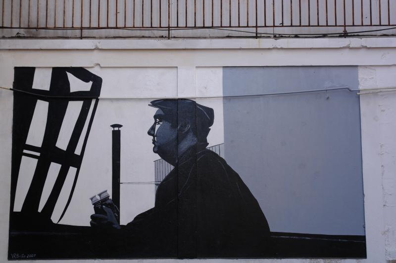 Pablo Neruda graffiti, Santiago de Chile