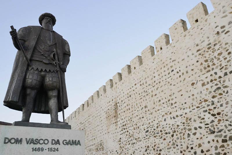 Vasco da Gama statue, Sines, Portugal