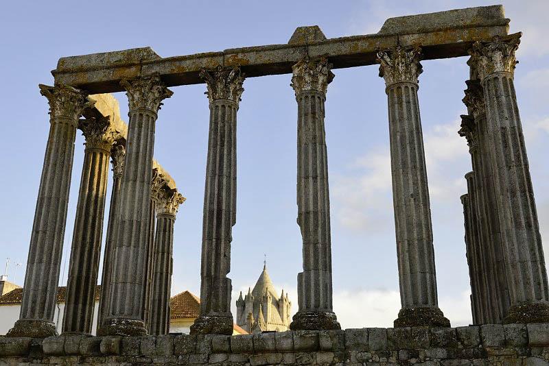 Diana Roman Temple, Évora, Portugal