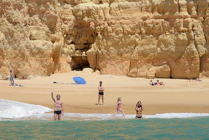 Beach from Benagil boat, Algarve, Portugal