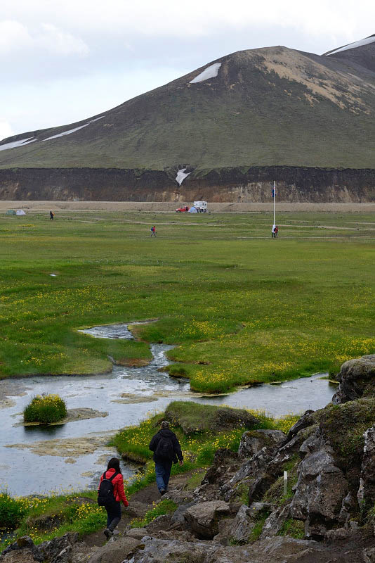 Landmannalaugar, returning to the camp