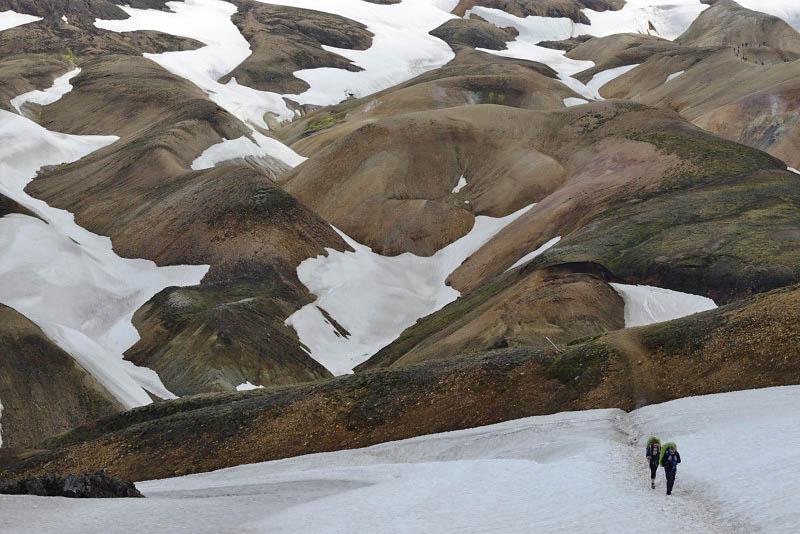 Landmannalaugar, Laugahraun-Brennisteinsalda trail