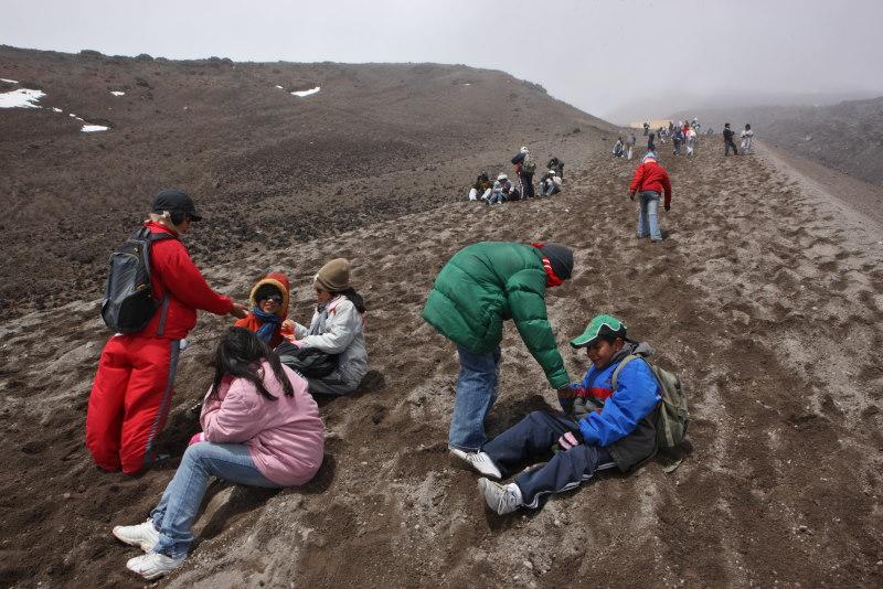 Climb to Cotopaxi lookout, Ecuador