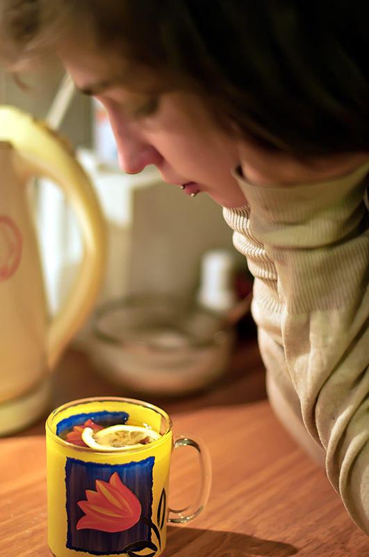 Emi With Lemon Tea