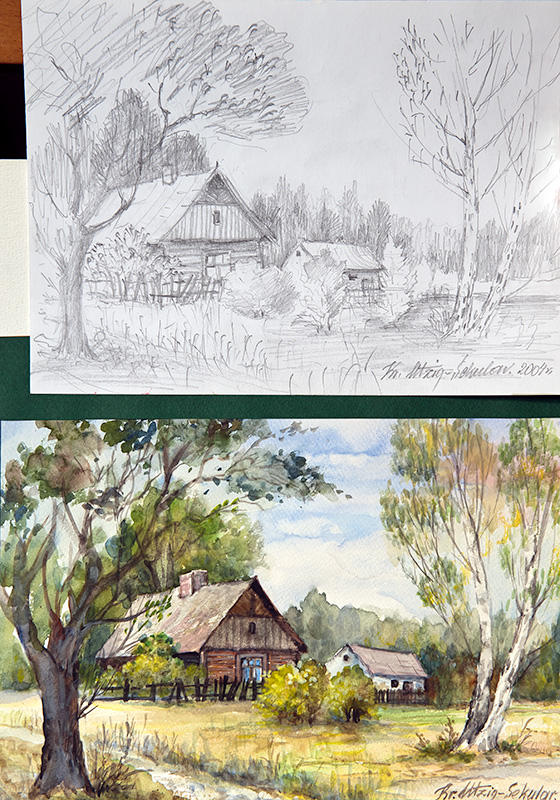 From Sketch To The Painting