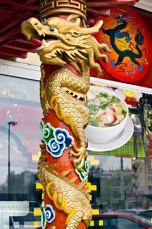 Golden Dragon And Black Dragon