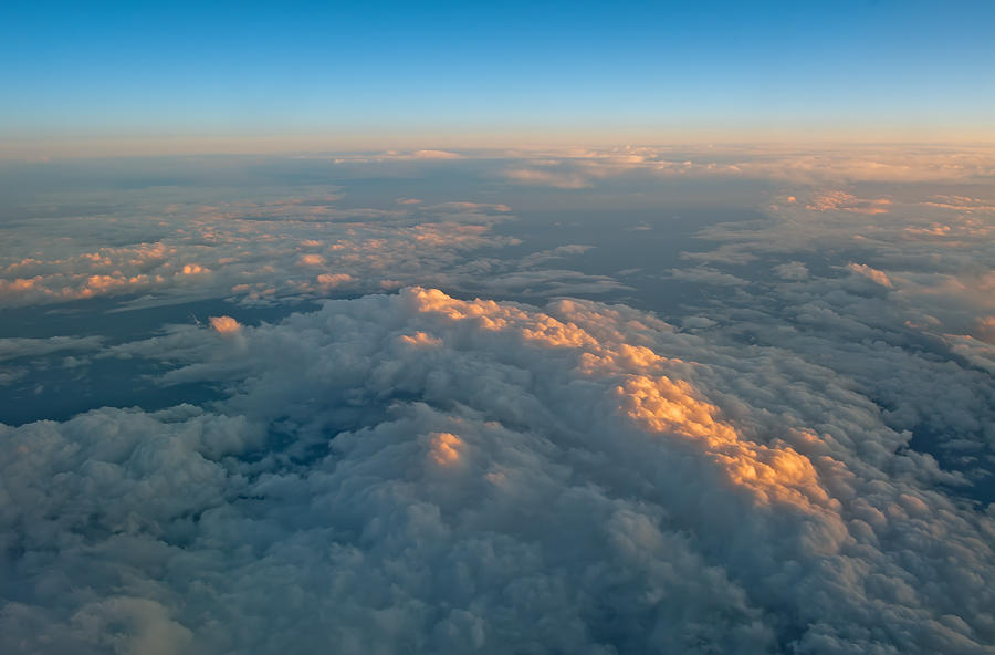 Sunset Light On The Clouds
