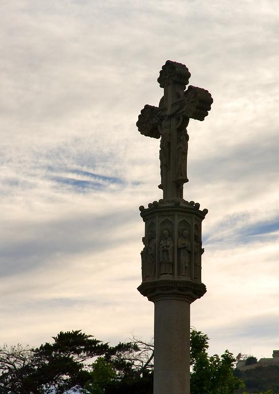 Old Cross In Pedralbes