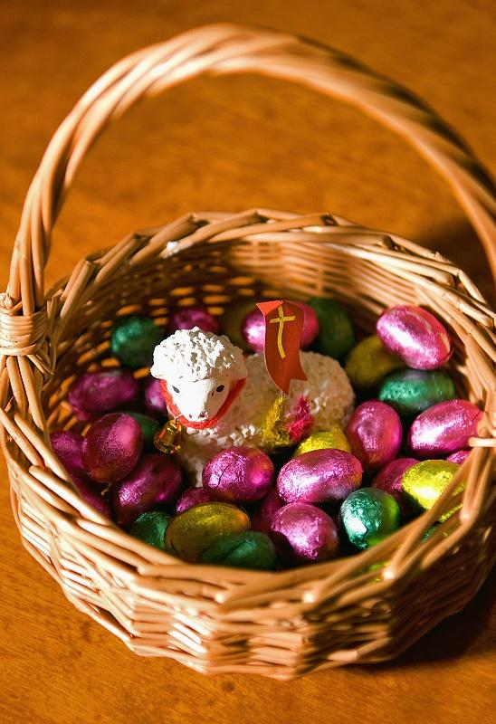 Choco Eggs Basket