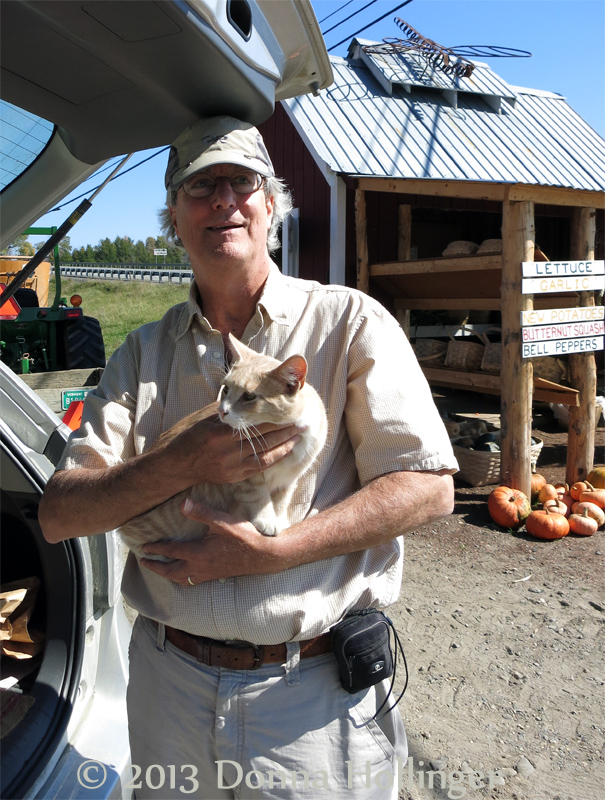 Peter with a Farm Kitty
