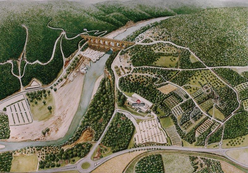 Pont du Gard - Map