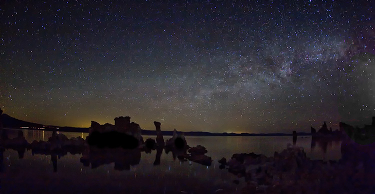 Milky Way Over the Tufas at Mono Lake