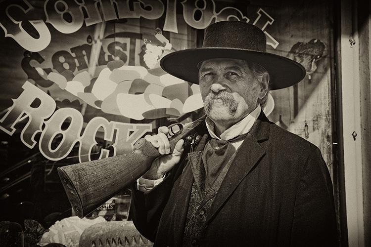 Wyatt Earp... Living Legends in Virginia City