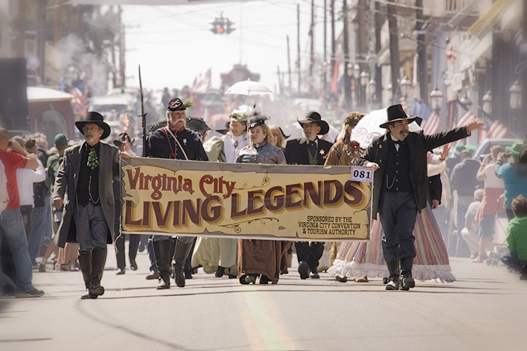 Living Legends Lead the Parade in Virginia City