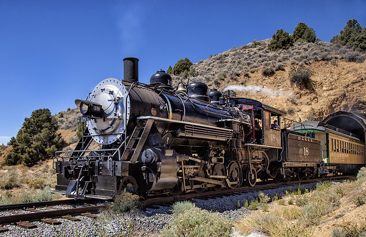 Chasing the V&T Steam Engine