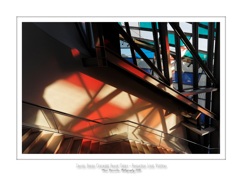 Fondation Louis Vuitton colorized by Daniel Buren 8
