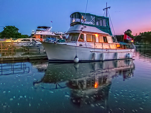 Docked Boat At Dawn DSCF05834-8