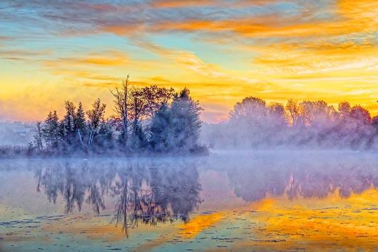 Misty Rideau Canal At Sunrise 37946