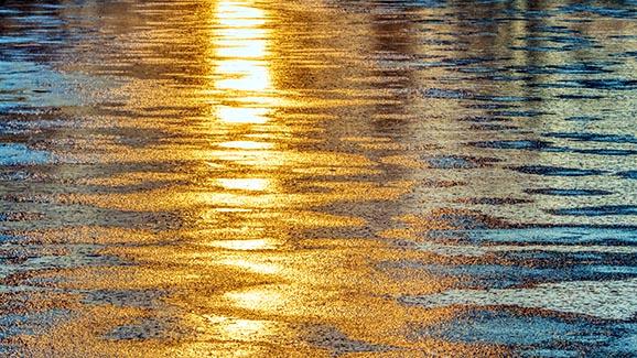 Freezing River At Sunrise 20141115
