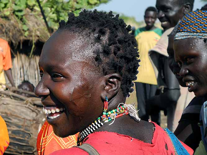 Scarification as beautification. Gumuz woman in Dechegrre. Ethiopia.