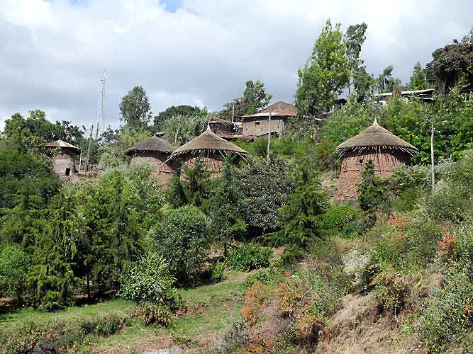 Amhara settlement in Lalibela. Ethiopia. Now most of the people have moved to modern houses.