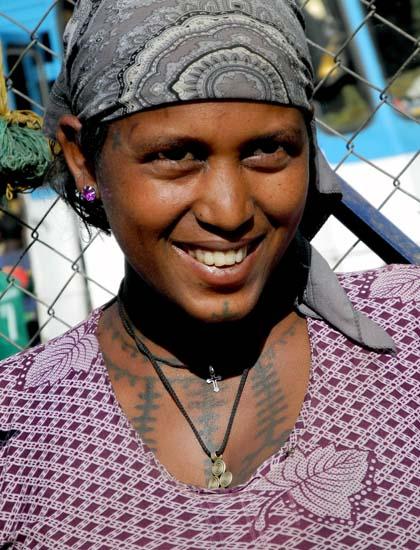 Amharic woman in Gondar. Ethiopia.