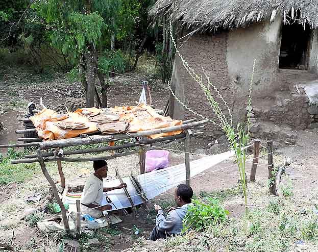 Weaver in Lalibela. Ethiopia.