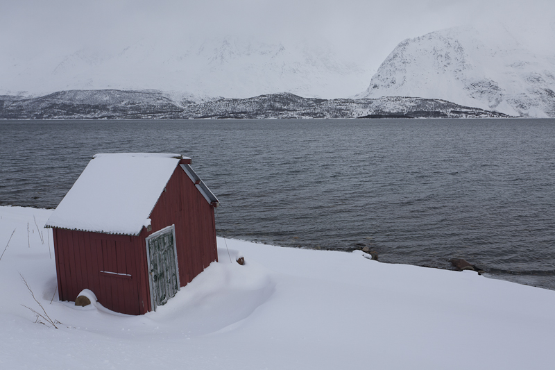 Hut at the fjord