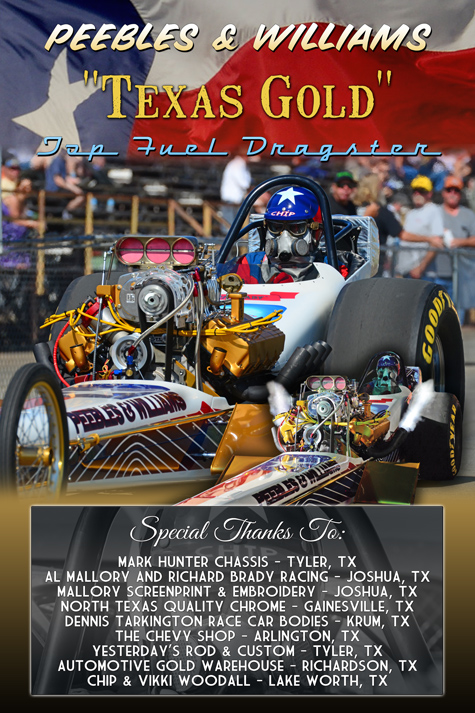 Texas Gold Cackle Top Fueler Showboard