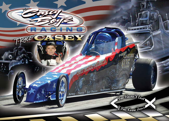 Trace Casey Jr. Dragster 2014