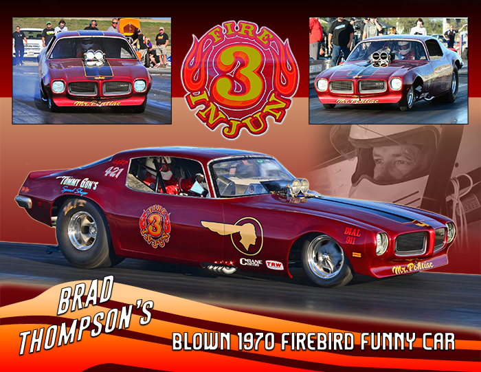 Brad Thompsons Fire Injun 3 Nostalgia Funny Car 2016