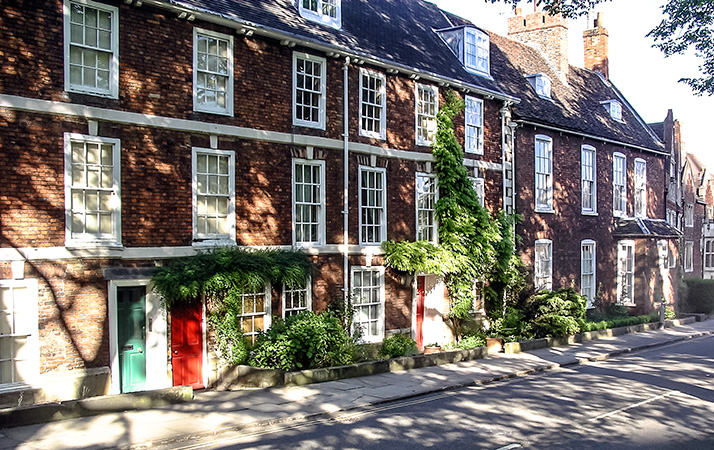 Houses opposite the Cathedral