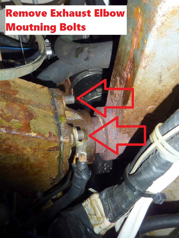 Remove Three Bolts Holding Exhaust Elbow