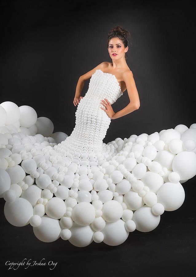 Melisa in Balloon Dress