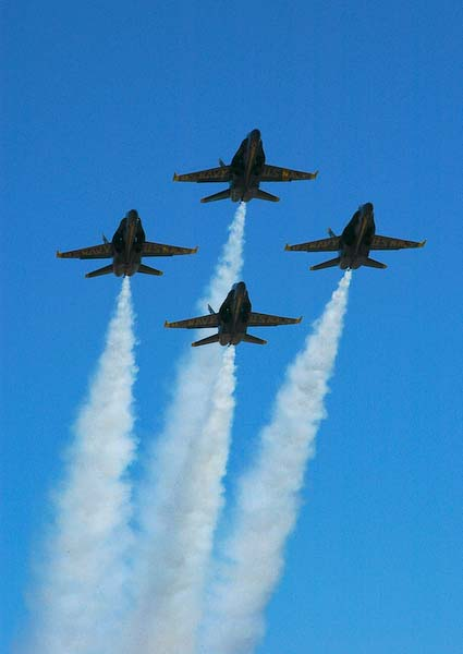 Blue Angels 1: taking off from Boeing Field