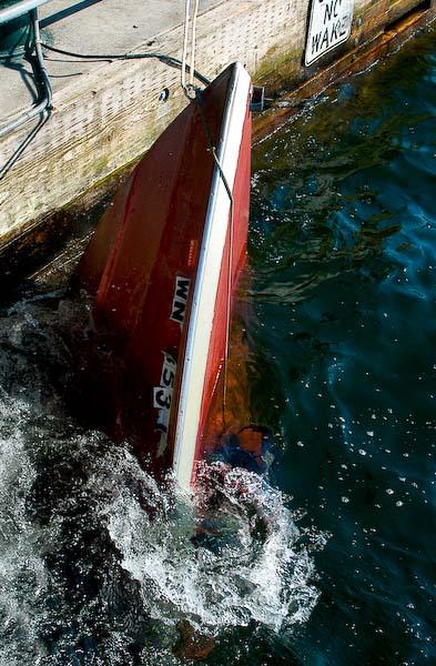 Boat barely afloat